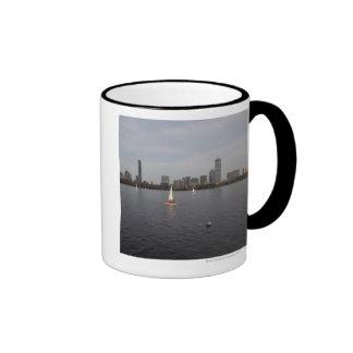 Sail Boat, Charles River, Boston, MA Ringer Mug