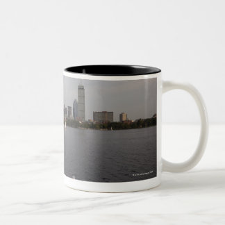 Sail Boat, Charles River, Boston, MA Two-Tone Coffee Mug