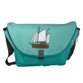 Sail boat courier bag