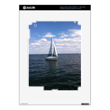 Beach Themed Sail Boat Decal For iPad 3