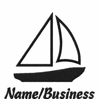 Sail Boat Emblem Polo Shirt Embroidered Men,Ladies