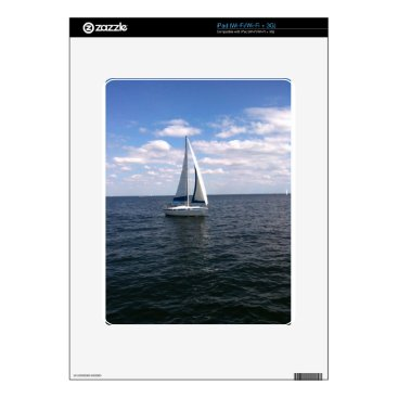 Beach Themed Sail Boat iPad Skin