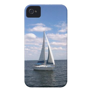 Beach Themed Sail Boat iPhone 4 Case