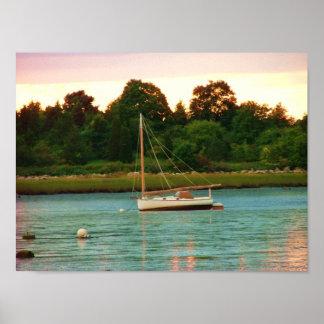 sail boat jones river kingston poster