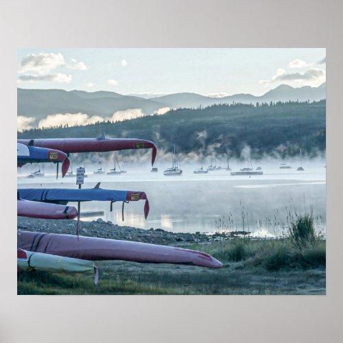 Sail Boat Lake Fog // Calming Sunrise