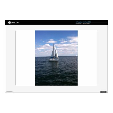 Beach Themed Sail Boat Laptop Decal