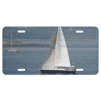Sail Boat License Plate