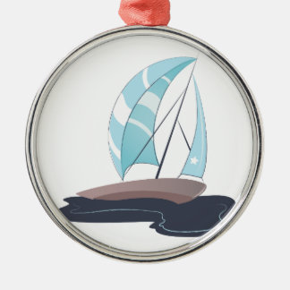 Sail Boat Metal Ornament