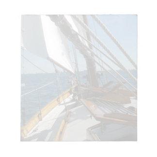 Sail boat on Lake Michigan Notepad