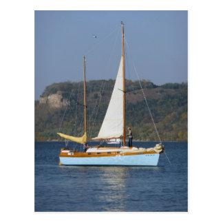 Sail Boat On Lake Pepin Post Card