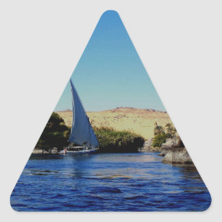 Sail boat on the blue Nile in Egypt photo Stickers
