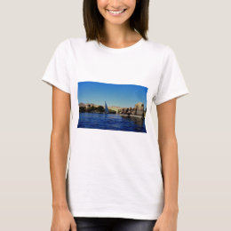 Sail boat on the blue Nile in Egypt photo T-Shirt