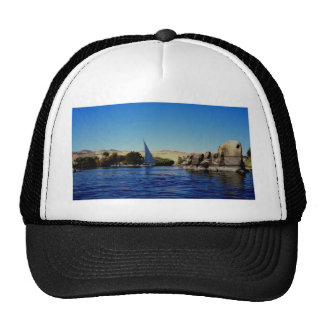 Sail boat on the blue Nile in Egypt photo Trucker Hat