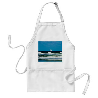 Sail Boat on the Ocean Adult Apron