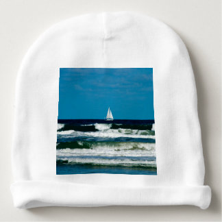 Sail Boat on the Ocean Baby Beanie