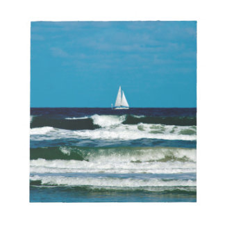 Sail Boat on the Ocean Notepad