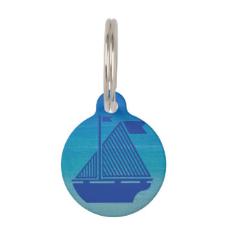Sail Boat on the Ocean Pet Tag