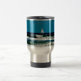 Sail Boat on the Ocean Travel Mug