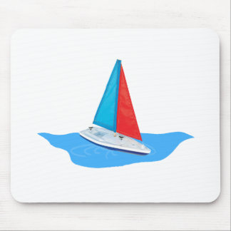 Sail boat on the water mouse pad