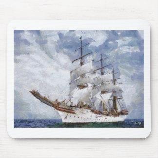 sail boat original painting mouse pad