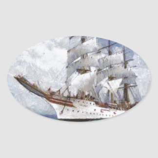 sail boat original painting stickers