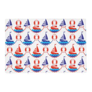 Sail Boat Pattern Placemat
