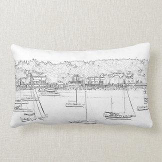 Sail boat pillow