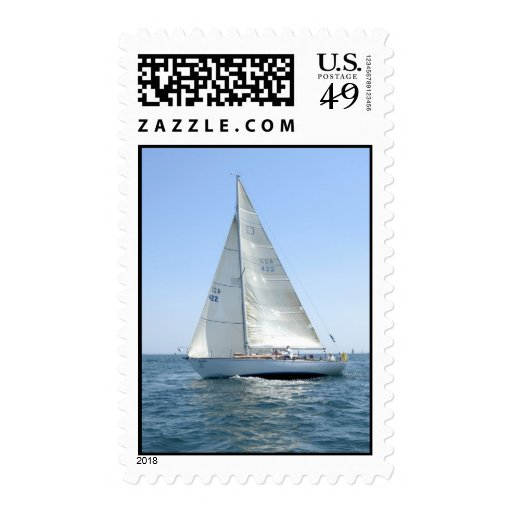 Sail Boat Postage Stamp