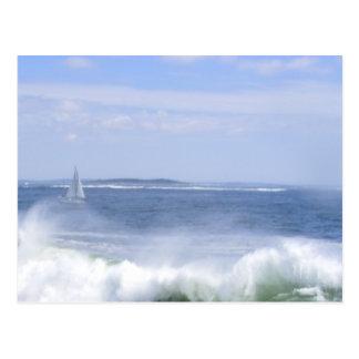 Sail boat postcard
