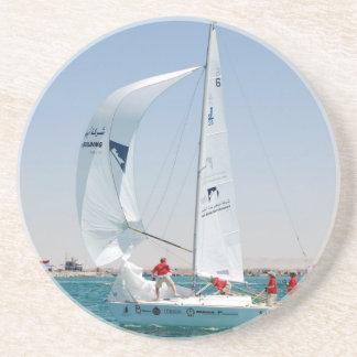 Sail Boat Race Sandstone Coaster