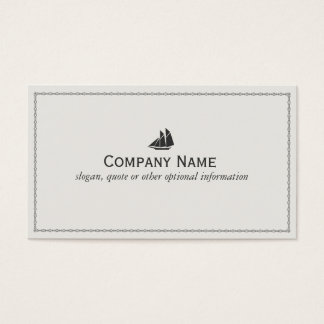Sail Boat Sailor Nautical Business Card