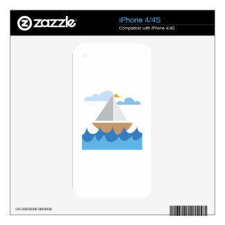 Sail Boat iPhone 4S Decal