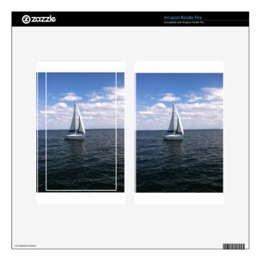 Beach Themed Sail Boat Skin For Kindle Fire