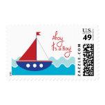 Sail Boat Stamp