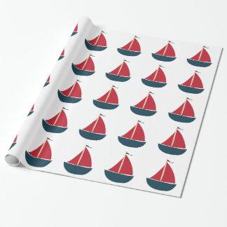 Sail Boat Gift Wrap