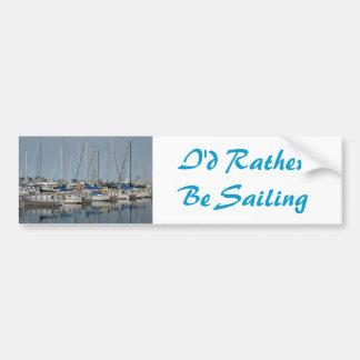 Sail Boat.Yachts Bumper Sticker