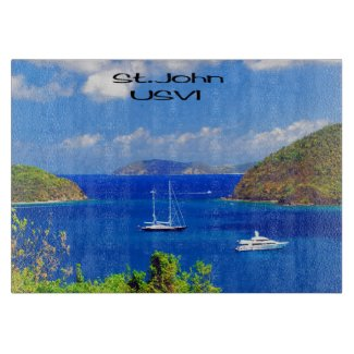 Sail Boats at Saint John Cutting Board