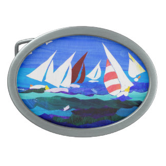Sail Boats Belt Buckle