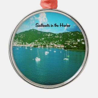 Sail boats metal ornament