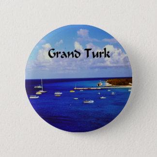 Sail Boats onGrand Turk Pinback Button