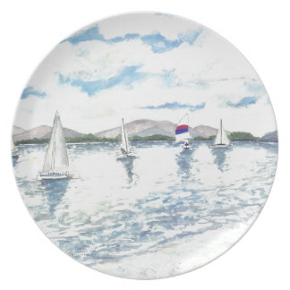 sail boats plate