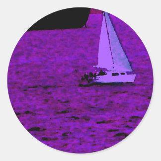 """""""Sail""""  CricketDiane Ocean Art Classic Round Sticker"""
