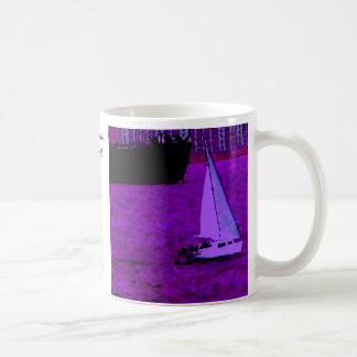 """Sail""  CricketDiane Ocean Art Classic White Coffee Mug"