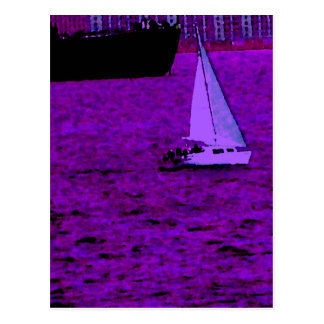 """Sail""  CricketDiane Ocean Art Postcard"