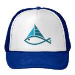 sail fish cap trucker hat
