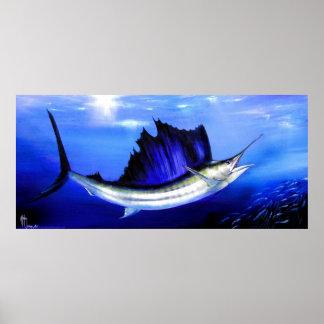 Sail Fish Reel Treat Posters