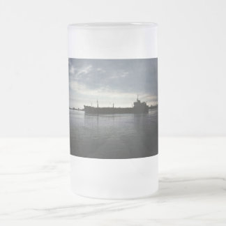 Sail into the Night Frosted Glass Beer Mug