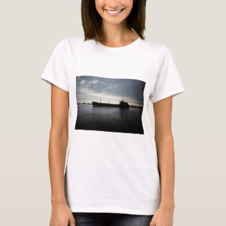 Sail into the Night Great Lakes Freighter T-Shirt