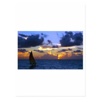 sail into the sunset postcard