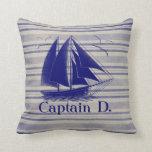 Sail like a pirate, boy's room nautical throw pillow